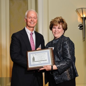 CEO Lynda Ellis accepts the 2012 National Capitol Business Ethics Award