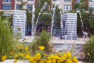 Penrose Square fountain